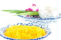Kanom Foythong. A traditional Thai dessert royalty free stock image