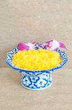 Kanom Foythong. A traditional Thai dessert royalty free stock images