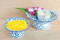 Kanom Foythong. A traditional Thai dessert stock images