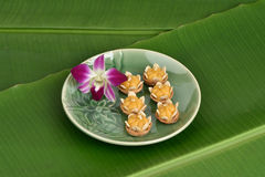 Kanom Jamongkut,Traditional dessert of Thailand. Royalty Free Stock Images