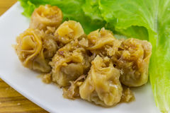 kanom jeeb (Chinese gedämpfter Mehlkloß) Lizenzfreies Stockbild