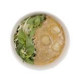 Kanom jeen le ya de nam : Nouilles de riz en sauce à cari de poissons Photographie stock libre de droits