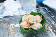 Kanom Krok, Dessert of Thai traditional sweetmeat or Thai Pancak Stock Photo