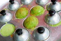 Kanom krok , kind of Thai sweetmeat Stock Photos
