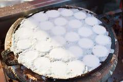 Kanom Krok lub Tajlandzki Pancak, deser Tajlandzki tradycyjny grylaż Zdjęcia Royalty Free