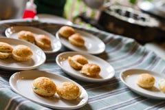 Kanom krok, thai sweetmeat Royalty Free Stock Photography