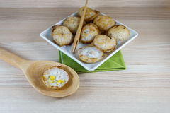 Kanom Krok is traditional Thai sweetmeat Royalty Free Stock Image