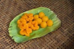 Kanom pasek Yod i kanom paska yib tradycyjny Tajlandzki deser Zdjęcia Stock