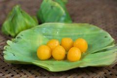 Kanom pasek Yod tradycyjny Tajlandzki deser Zdjęcie Royalty Free