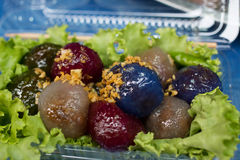 Kanom sago; Thai dessert Stock Image