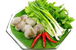 Kanom sago, thailändskt mellanmål Arkivfoton