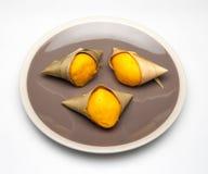 Kanom Tarn / Palm flavored mini cake Stock Photo