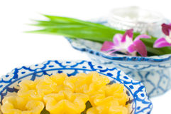 Kanom Thong Yib a traditional Thai dessert Stock Images