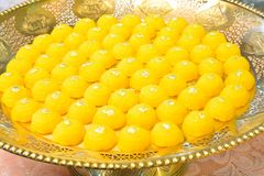 Kanom Thongn Ek, Gold Thai traditional Dessert made of Egg Yolk Royalty Free Stock Photo