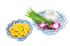 Kanom-Zapfen Yib ein traditioneller thailändischer Nachtisch lizenzfreies stockfoto