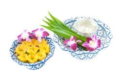 Kanom-Zapfen Yib ein traditioneller thailändischer Nachtisch stockfoto