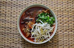 Kanomjeen namngew. A local food of Thailand which famous for touristm Royalty Free Stock Image