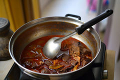 Kanomjeen namngew. A local food of Thailand which famous for touristm Royalty Free Stock Images