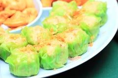 Kanomjeep, Thaise gestoomde bollen stock foto's