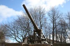 Kanon av det 19th århundradet i den Daugavpils fästningen Arkivfoto