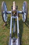 Kanon bij Fort Malden in Amherstburg, Ontario Stock Foto