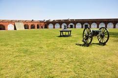 Kanon bij Fort Pulaski, Georgië Royalty-vrije Stock Afbeeldingen