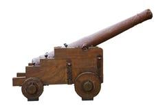 Kanon dat op wit wordt geïsoleerda Stock Foto