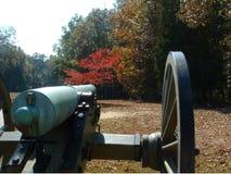 Kanon dichtbij Kerk Shiloh Royalty-vrije Stock Foto's