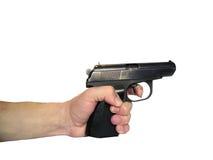 Kanon in een hand Stock Afbeelding