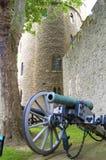 Kanon en kasteel Stock Foto's