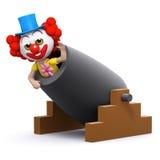 kanon för clown 3d Royaltyfri Foto