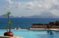 Kanon för St. som Kitts siktas på Nevis Royaltyfri Fotografi
