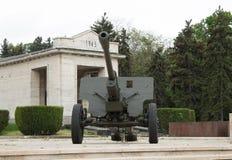 Kanon i Carol Park, Bucharest, Rumänien Fotografering för Bildbyråer