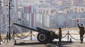 Kanon in Krasnoyarsk stock afbeeldingen