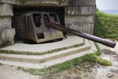 Kanon med trumman som ner pekar Royaltyfri Fotografi