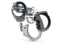 Kanon met handcuffs royalty-vrije illustratie