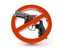 Kanon met verboden teken vector illustratie