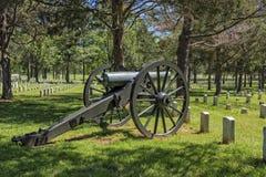 Kanon på den nationella slagfältet och kyrkogården för stenflod Arkivfoto