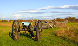 Kanon på Gettysburg Arkivfoton