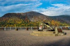 Kanon på Hudson River Royaltyfria Foton