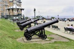 Kanon Quebec City Arkivfoton