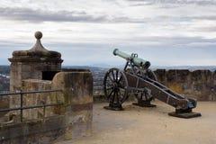 Kanon som skyddar fästningen Arkivbilder