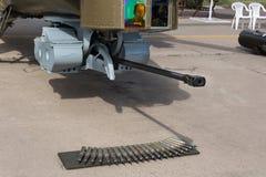 Kanon van militaire helikopter mi-28 Stock Fotografie