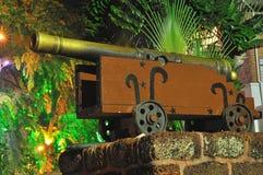 Kanone am Afamosa Fort, Malacca, Malaysia Stockbild