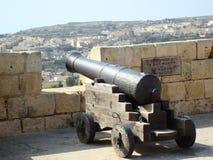 Kanone auf Wällen Stockfotografie