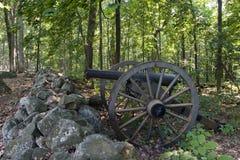 Kanone E17 in der Gettysburg-Verteidigung Lizenzfreie Stockbilder