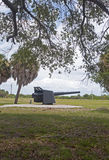 Kanone an einem alten Fort Lizenzfreie Stockfotografie