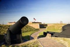 Kanone am Fort McHenry Lizenzfreie Stockbilder