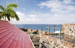 Kanone-Fort Oranje Oranjestad Sint Eustatius Lizenzfreie Stockbilder