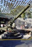 Kanone im Bunker Stockfotografie